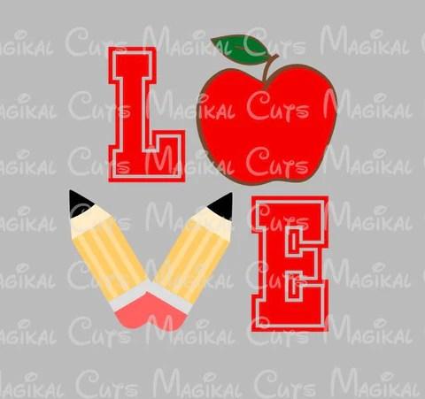 Download Love Teacher SVG, Studio, EPS, and JPEG Digital Downloads ...
