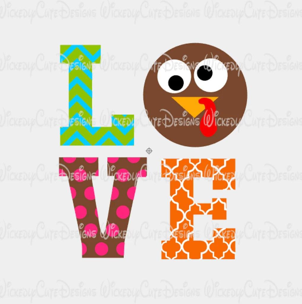 Download Turkey Love SVG, DXF, EPS, PNG Digital File - Wickedly ...