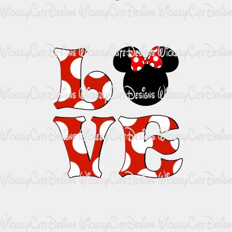 Download Minnie Love SVG, DXF, EPS, PNG Digital File - Wickedly ...