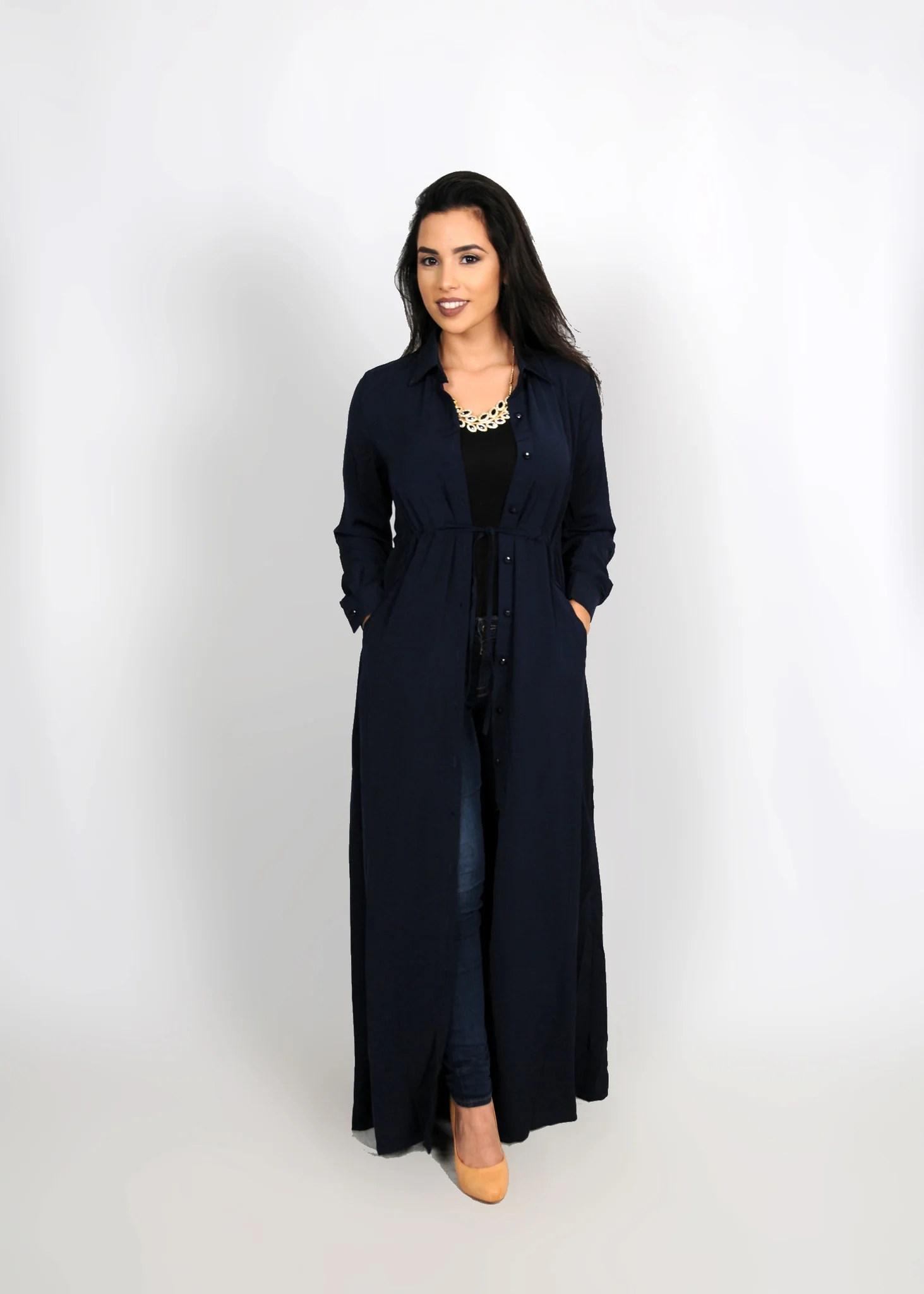 Navy Blue Maxi Dress Winter