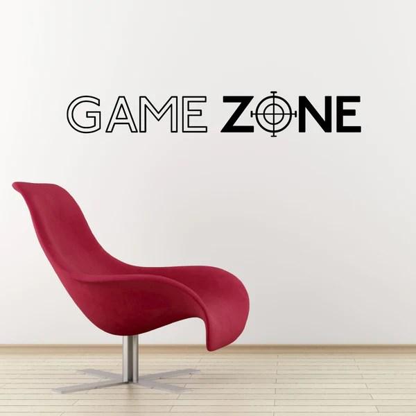 Game Zone Wall Sticker  Computer Gamer Decal  ZygoMax