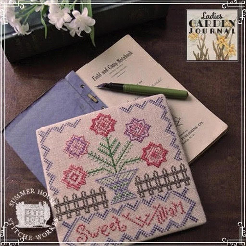 Summer House Stitche Workes Ladies Garden Journal 1 Sweet William Down Sunshine Lane