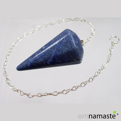 Pndulo Prisma Cuarzo Azul Namast  Tienda Namast