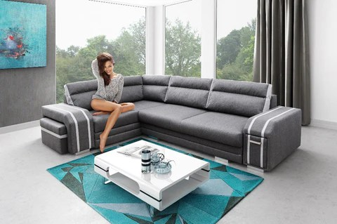 large dark grey corner sofa sam s club power reclining avatar functional and modern bed with footstool drawer pull out