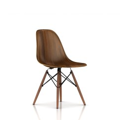 Eames Molded Wood Side Chair Babies Sit Up Dowel Base By Herman