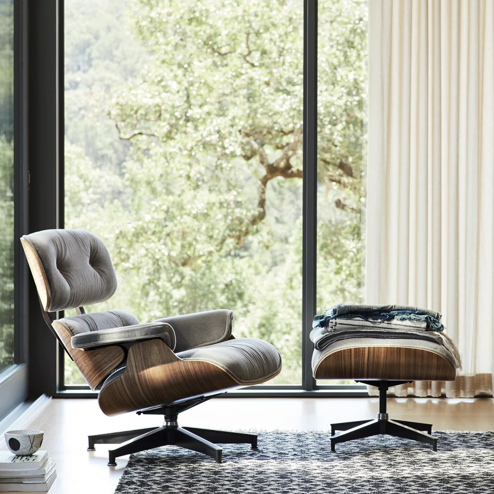 Eames Lounge Chair And Ottoman In Mohair Supreme Lekker Home