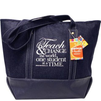 Teacher Gift Tote Denim Inspiration