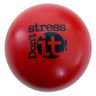 Don't Stress It Squeeze Ball - Red
