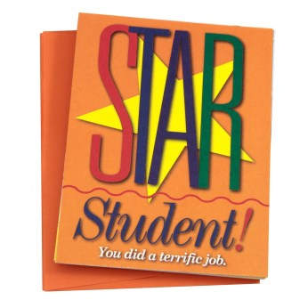 """Star Student"" Note Cards"