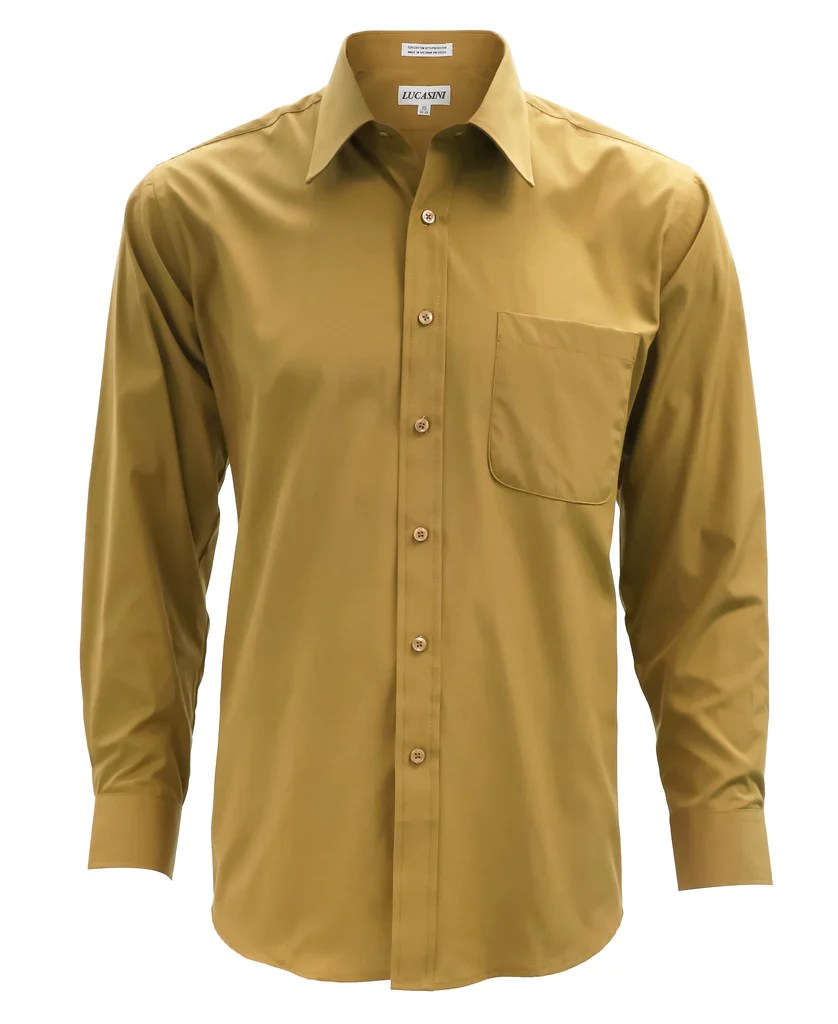 Gold Men's Dress Shirt