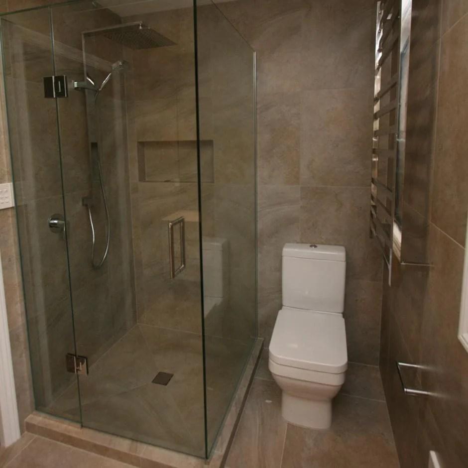 FRAMELESS GLASS SHOWER  2 SIDED  Elite Bathroomware