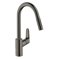 Kitchen Mixers Used Cabinets Hansgrohe Focus Pullout Mixer Black Chrome Elite Bathroomware Polished