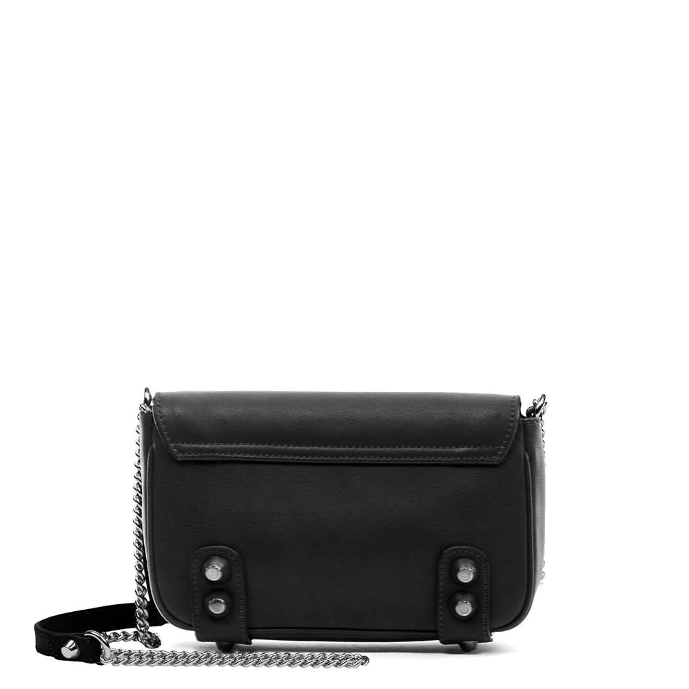 Dylan Crossbody Mini Bag In Black Linea Pelle