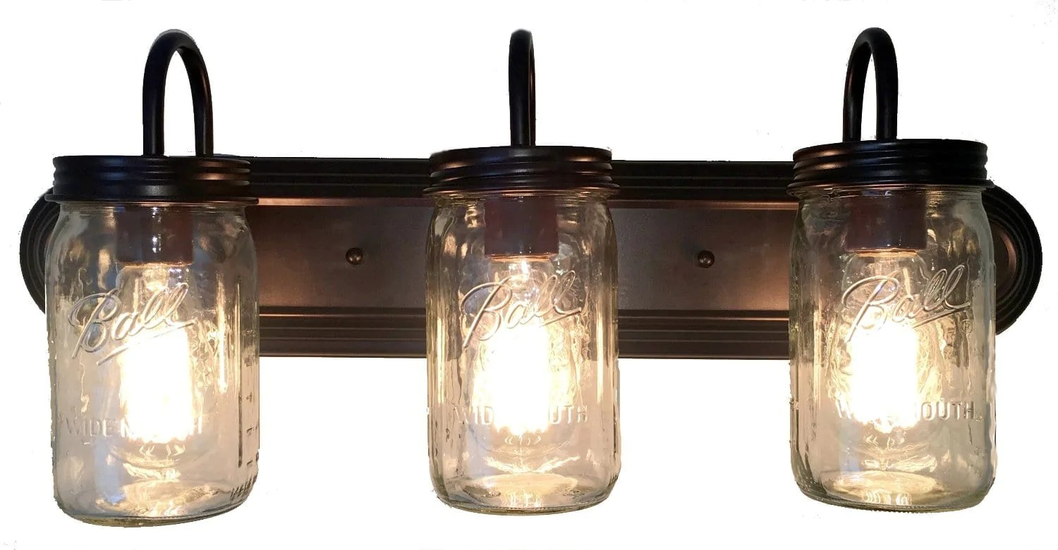 Mason Jar Bathroom Light Mason Jar Vanity Light Bathroom Wall Sconce Lighting Fixture The