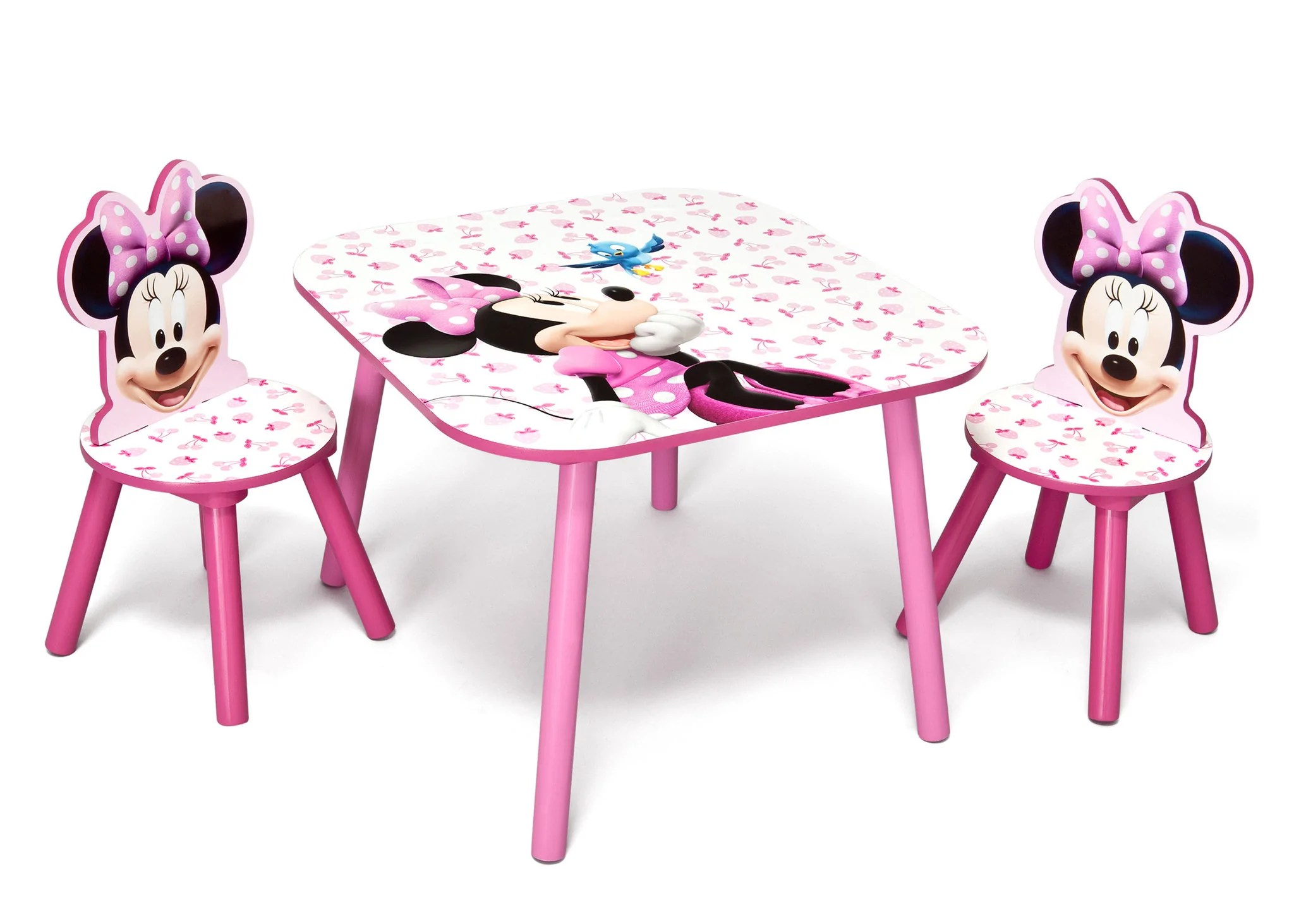 minnie table and chair set a half with storage ottoman mouse delta children eu pim