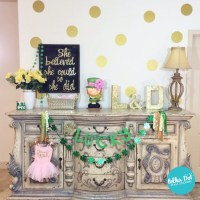 Metallic Gold Polka Dot Wall Decals
