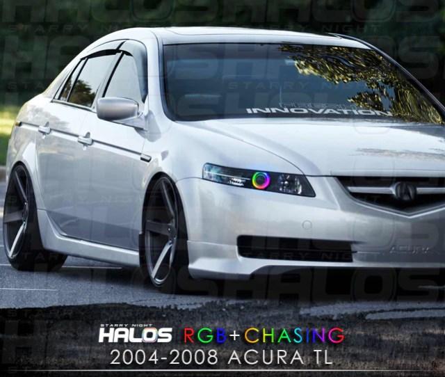 2004 2008 Acura Tl Rgbchasing Starry Night Halo Kit Pair Starry Night Halos