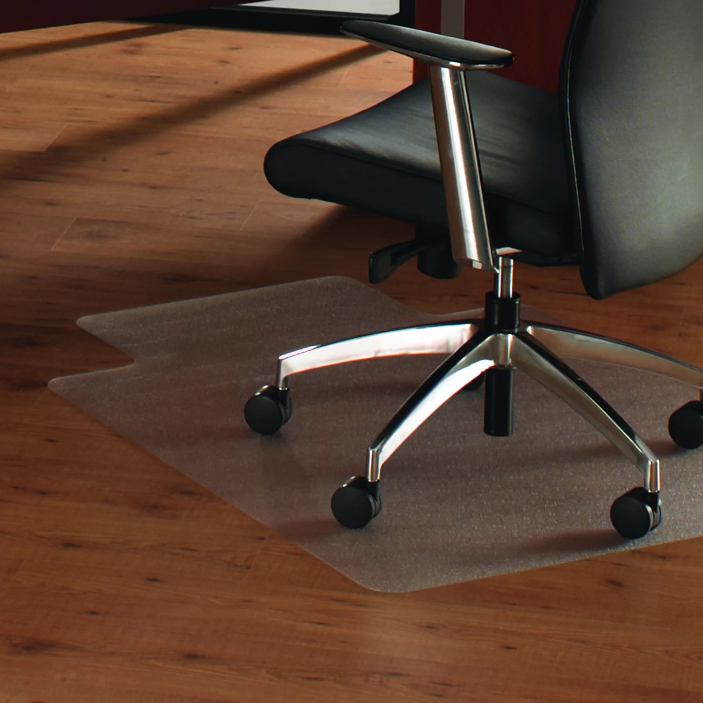clear chair mat white dining room chairs target cleartex anti slip unomat for polished or high gloss hard floors