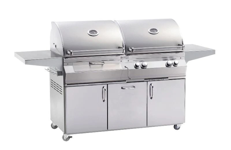 magic kitchen grill black rugs fire a830s dual fuel charcoal gas combol with rotisserie bbqing com