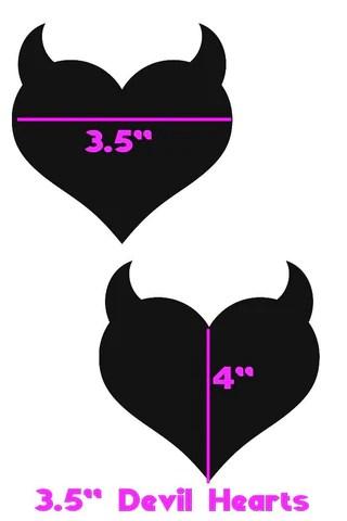 black holographic devil heart