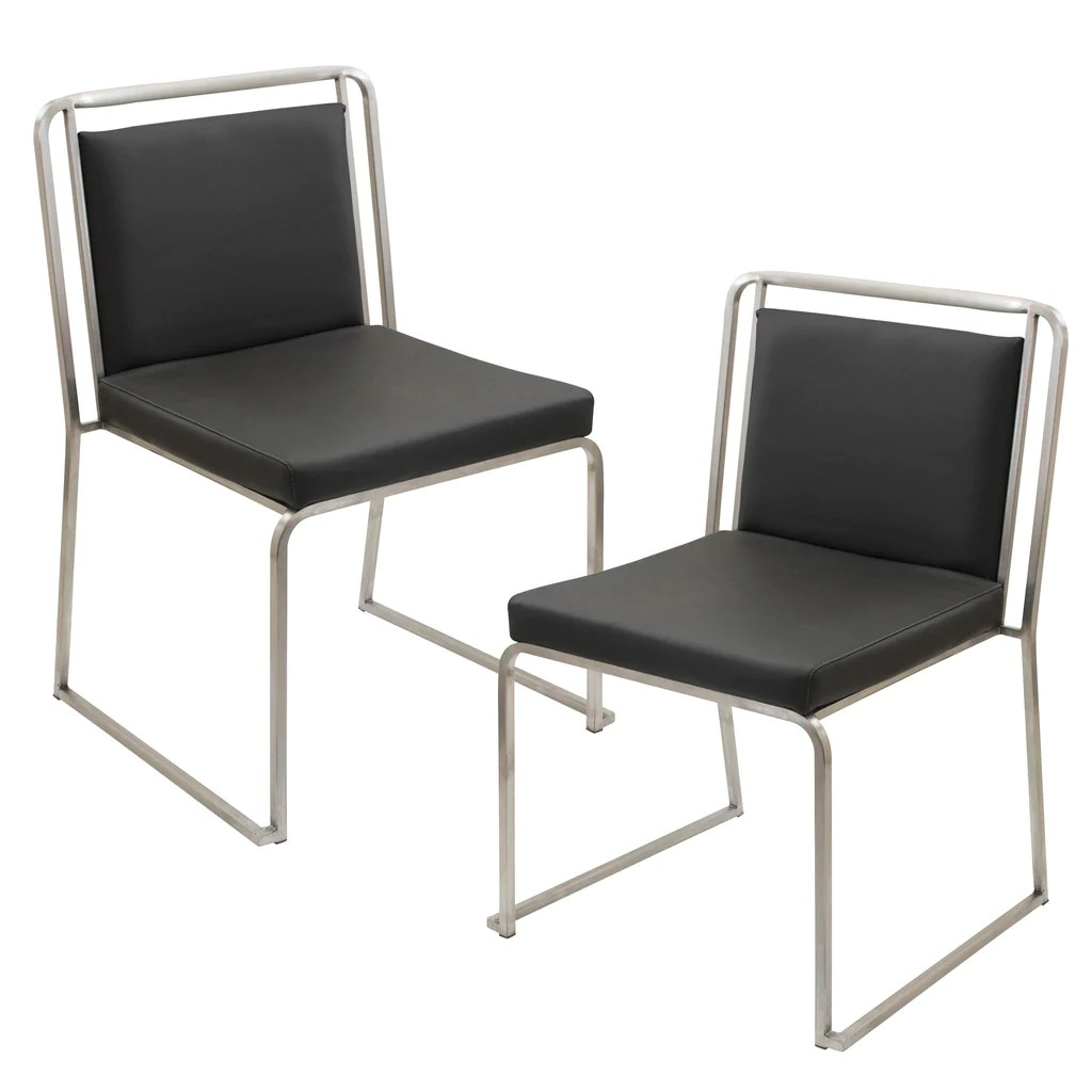 White Stackable Chairs Cascade Stackable Chairs Set Of 2 Black Grey Or White