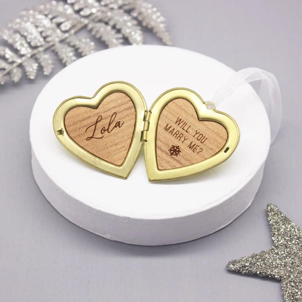 personalised proposal heart locket