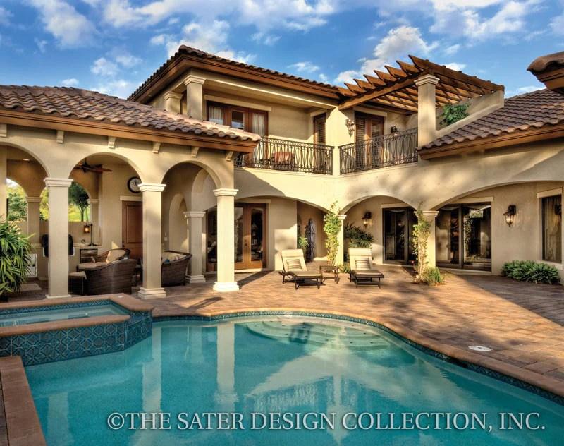 Home Plan Casoria  Tuscan House Plans Home Design  Sater Design Collection