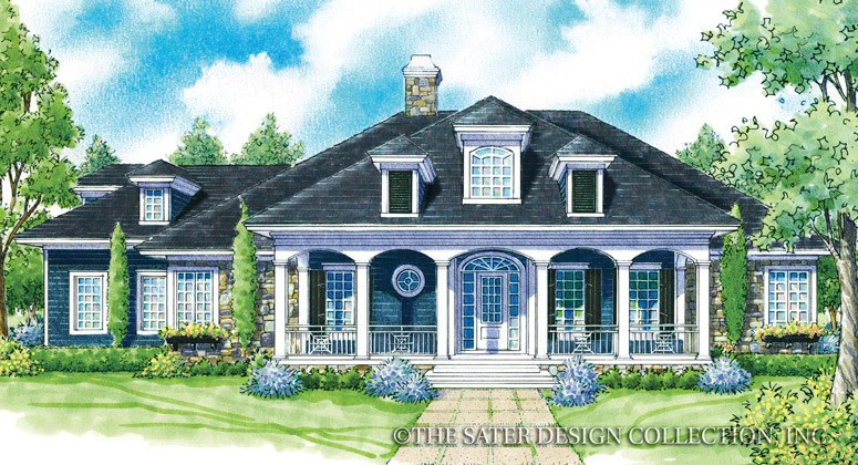 Home Plan Crescent Somer  Sater Design Collection