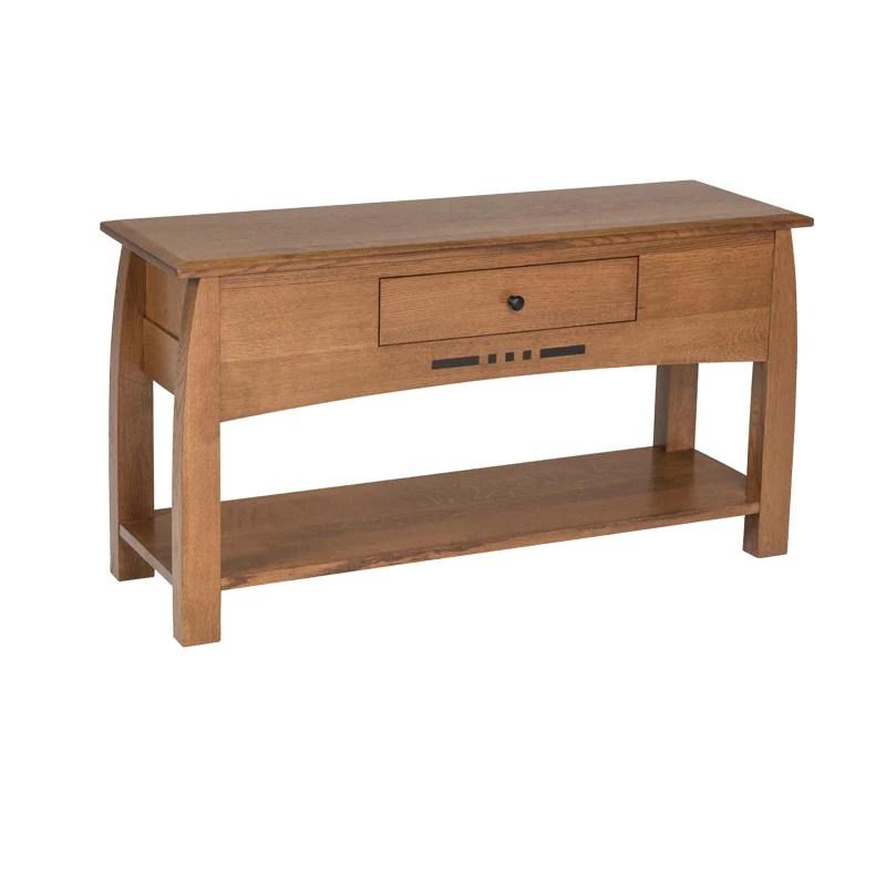 amish built sofa tables index set sd 3135ro sedona rustic oak table made arts crafts for less