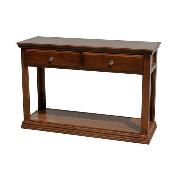 sofa console tables wood leather sets designs od a t247 traditional alder table oak for less