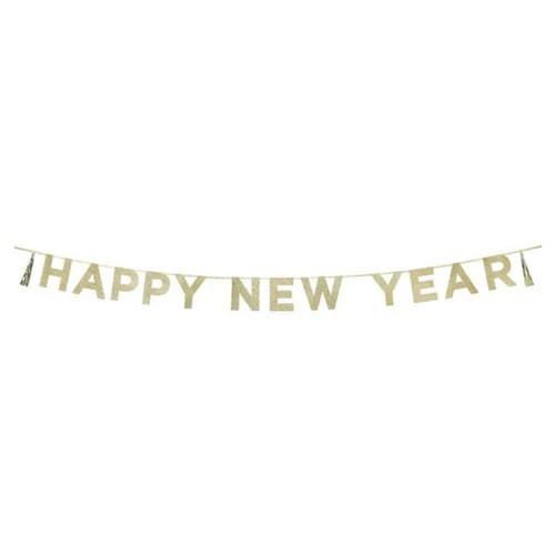 glittery happy new year