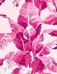 Electric Palm Pink Traditional + Peel & Stick Wallpaper