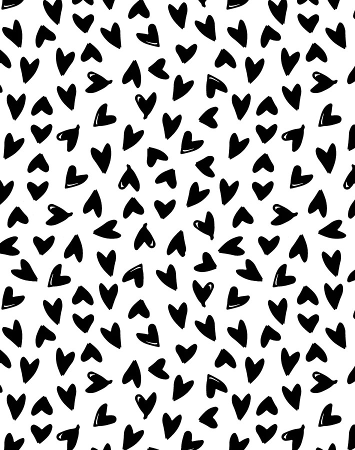 Hearts By Sugar Paper Black On White