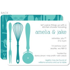 Kitchen Bridal Shower Countertop Organizer Invitation Pipsy
