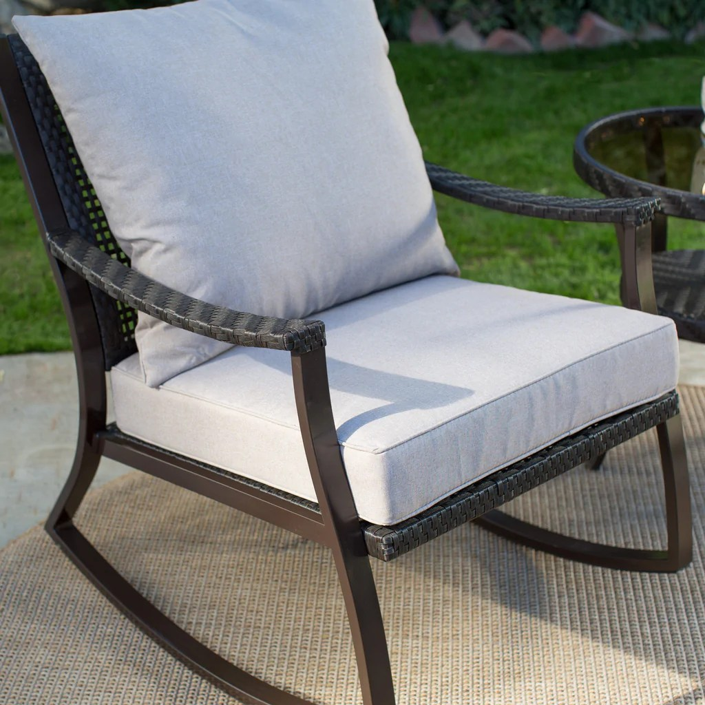 all weather garden chairs ashley bar height table and wicker outdoor patio porch rocking chair  the