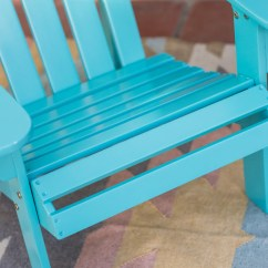 Aqua Adirondack Chairs Butterflies And Bows Chair Covers Acacia Wood Patio Garden In Blue