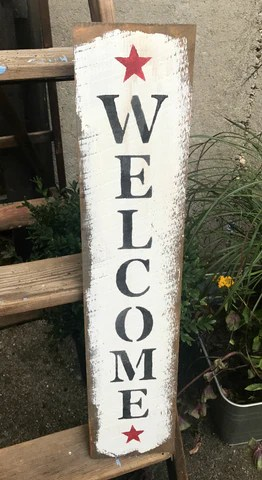 barn wood welcome sign