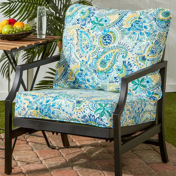 navy blue patio chair cushions camo portable high coastal collection outdoor deep seat cushion set – direct