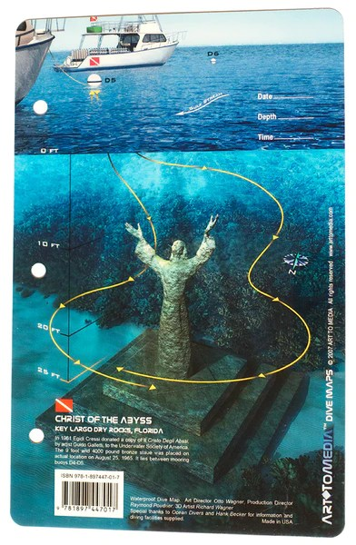 Christ of the Abyss & Dry Rocks, Key Largo  Dive Map – Action Prone