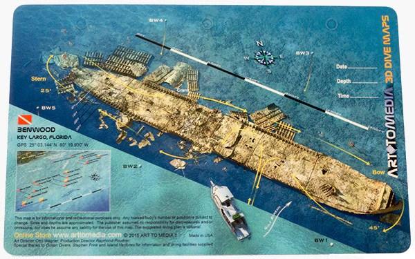 scuba gear diagram 2000 honda civic horn wiring benwood, key largo, florida - art to media dive map – action prone
