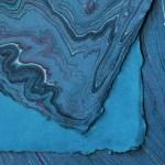 Handmade Blue Marble Paper De Milo Design Studio Letterpress