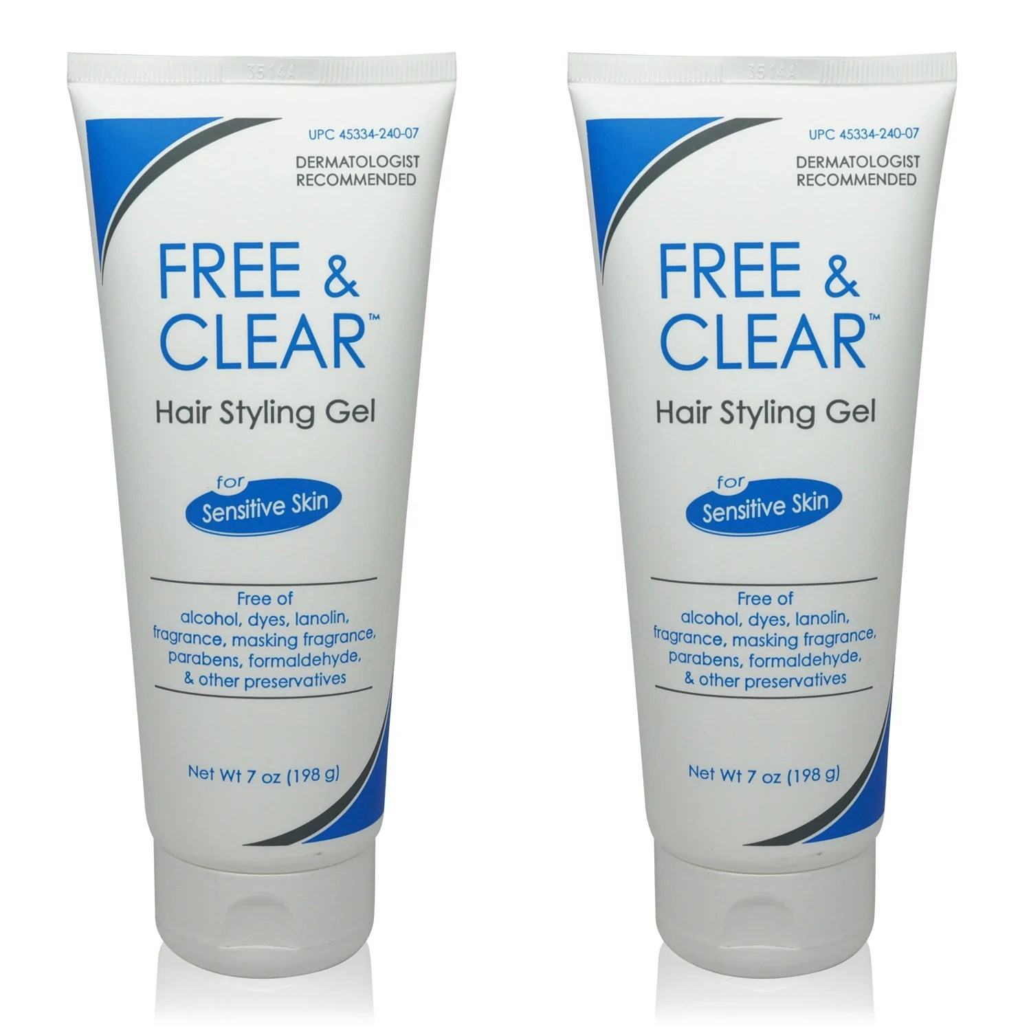 Free & Clear Hair Styling Gel 7 Oz Pack Of 2 - Lala Daisy