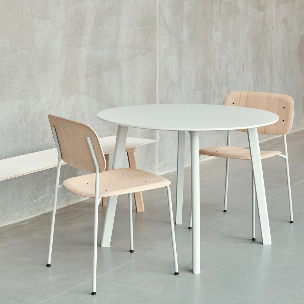 kitchen table round stools with back copenhague deux dining hay insidestore