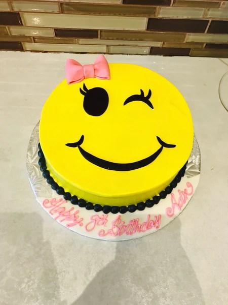 Winky Emoji Cake  Rashmis Bakery