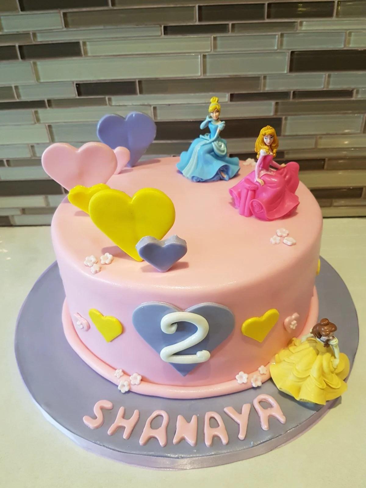 Disney Princess Fondant Cake Rashmis Bakery