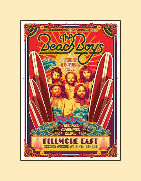 beach boys concert poster