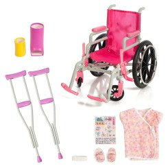 Fisher Price Chair Pink Eames Style Office Chairs Beverly Hills, Wheel Chair/ Crutches Set, Fits 18