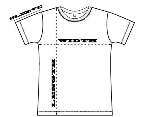 Unisex  shirt size chart inches also nama tease osaka japan rh namatease