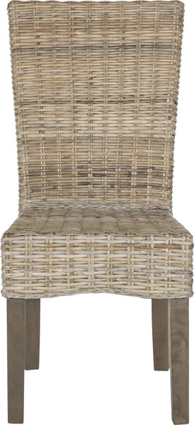 safavieh dining chairs pool lounge clearance ozias 19 h wicker chair grey furniture incredible