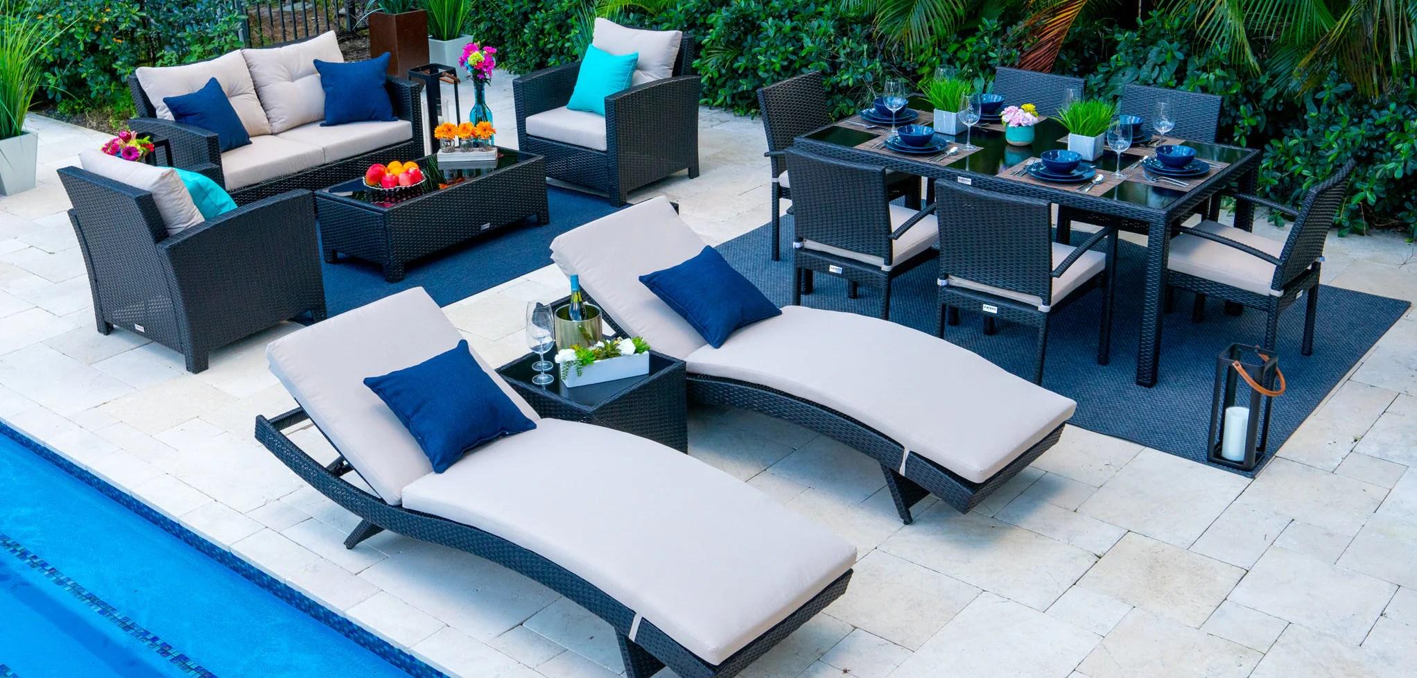 wicker patio furniture set wicker